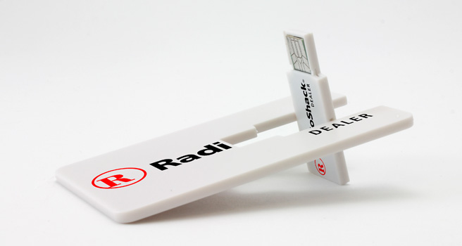 card twist imprinted flash drives