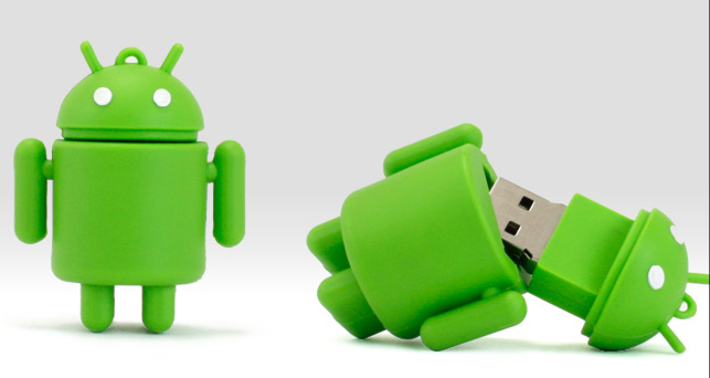 Custom Shaped Android USB Flash Drives