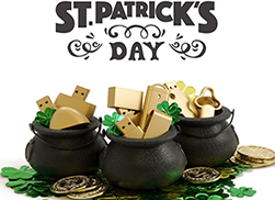 st patricks day custom flash drive giveaway