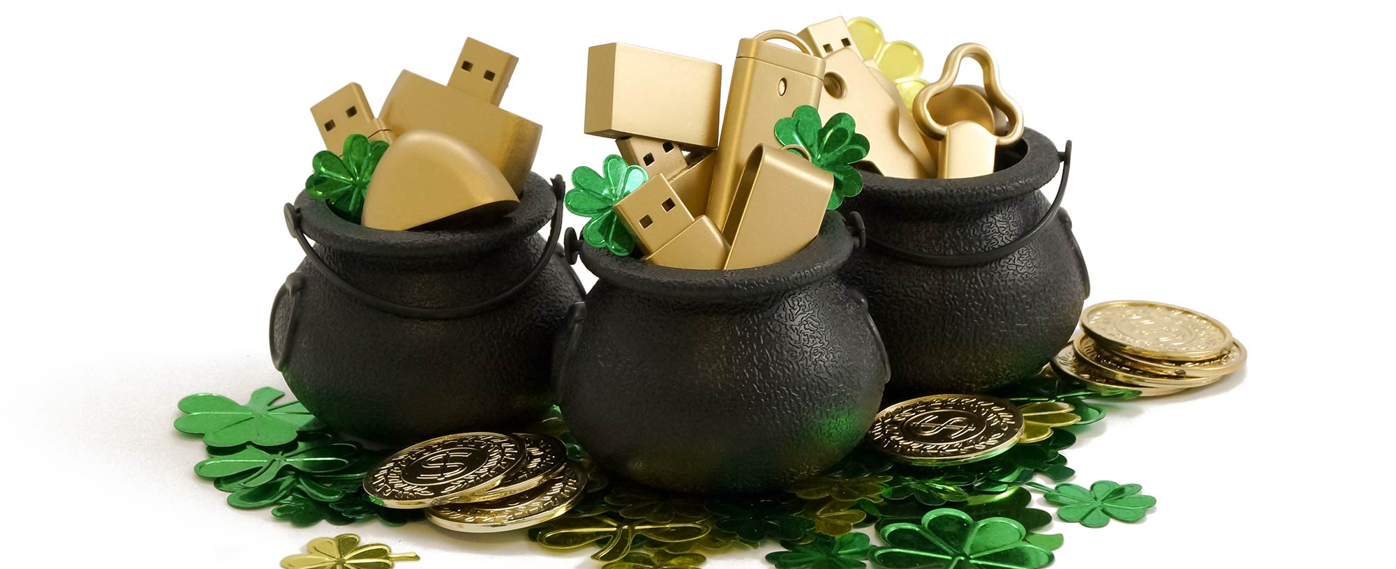 st patricks day custom usb drive giveaway