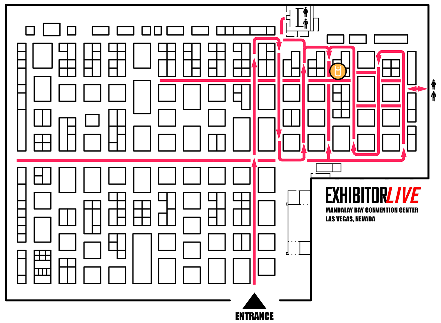Trade Show Floor Plan Routes