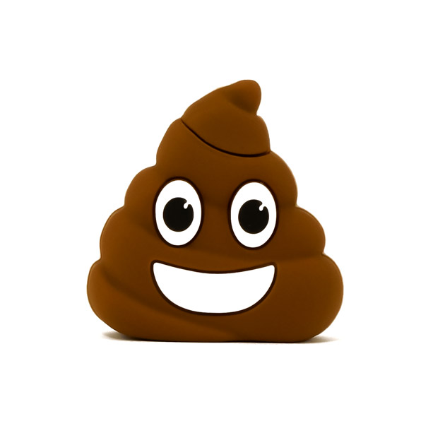 custom shaped poop emoji flash drive