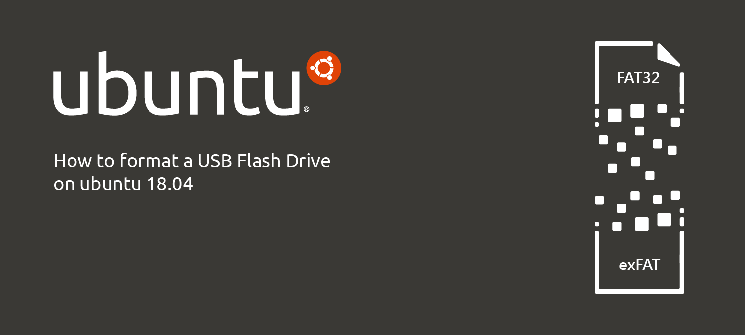 How to format a USB flash drive on Ubuntu 18.04