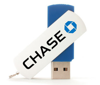 Swivel style customized flash drive