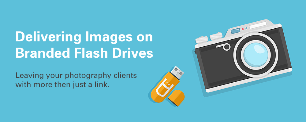 delivering images on custom flash drives banner