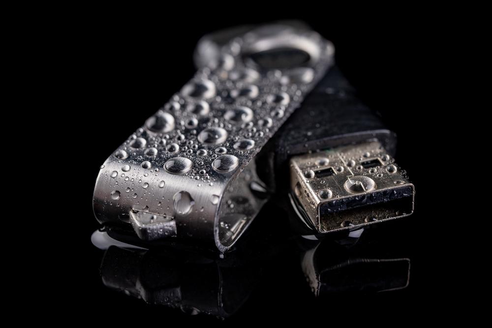 water damaged flash drive
