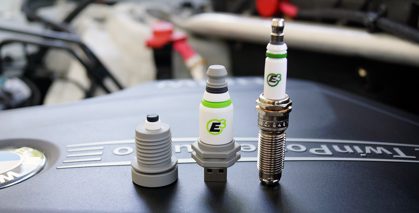 Custom Shape E3 Spark Plug Flash Drives 2