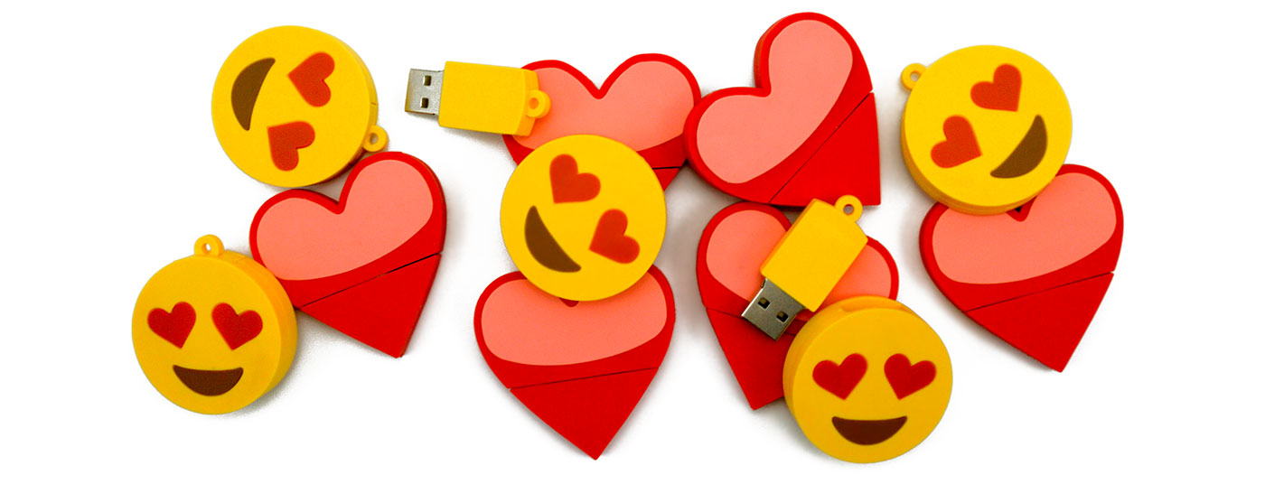 Emoji Heart Usb Drives