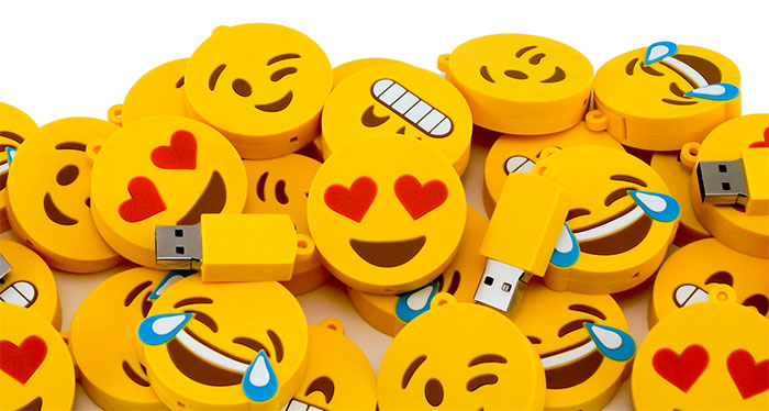 Pile Of Emoji Usb Drives Small