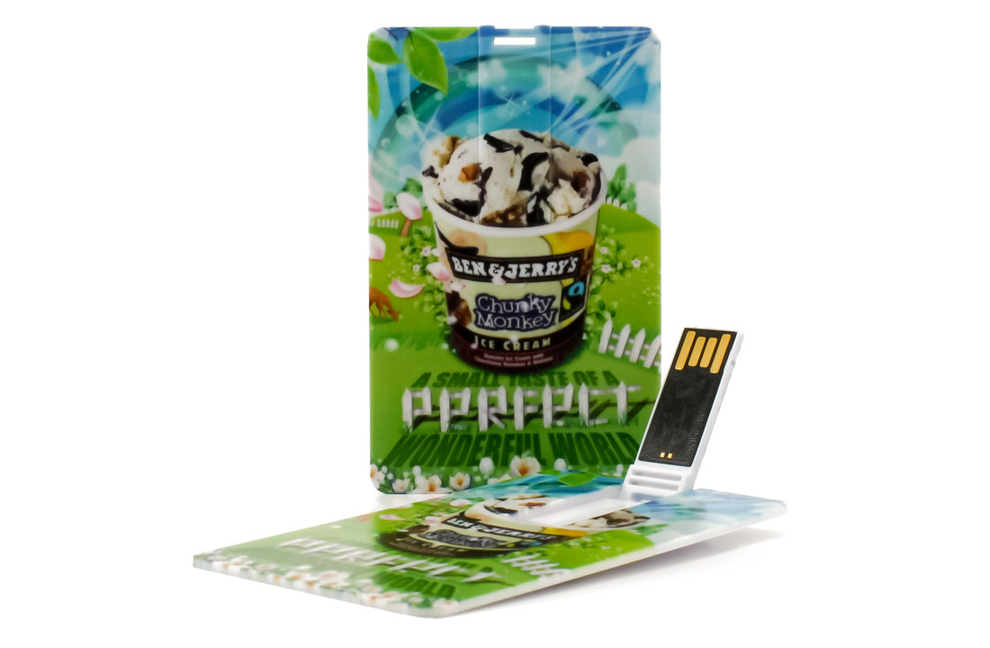 Card Flip Business Card USB Drives - Custom credit card flash drives.
