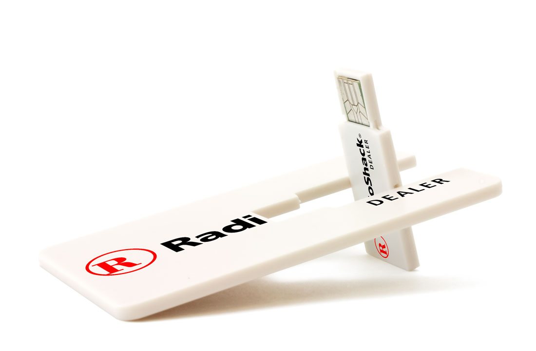 Card-Twist - Unique retractable custom business card style flash drive.