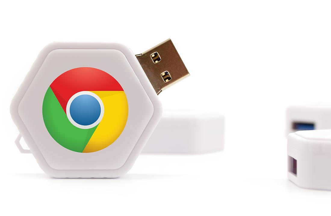 Twist Usb Drive Chrome Logo