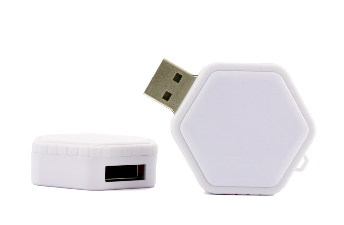 White Twist Usb Flash Drive