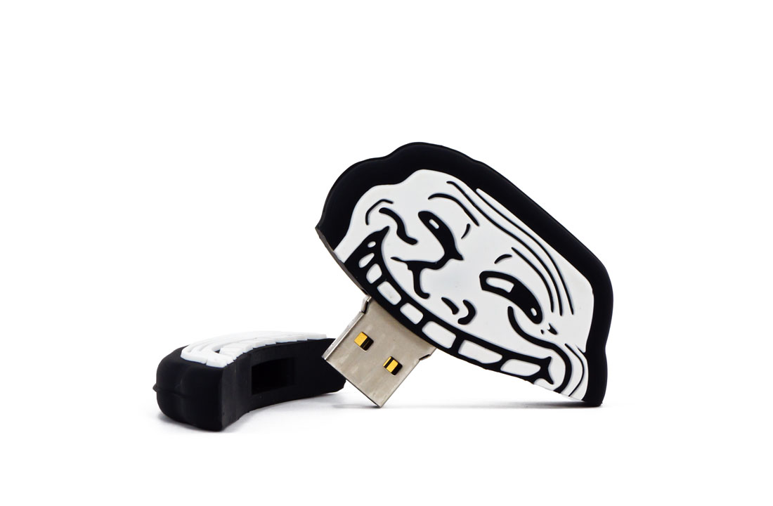 Troll Face Usb Drive Opened